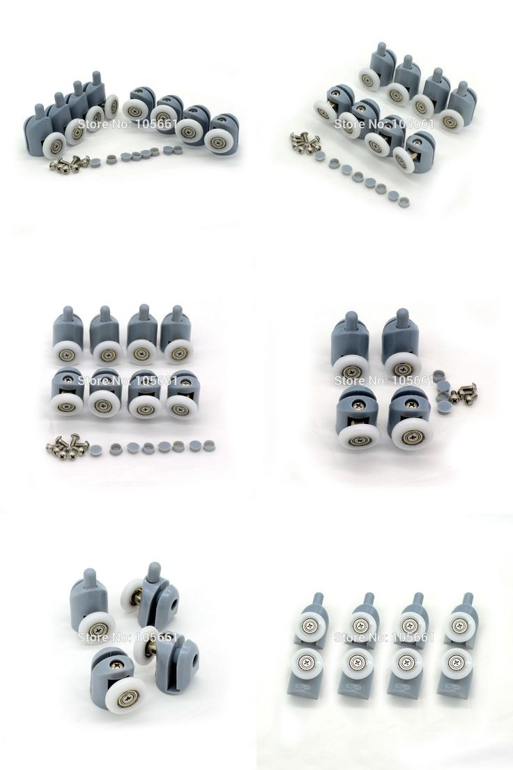 [Visit to Buy] Set of 8 Single Shower Door Rollers / Runners / Wheels / Pulleys wheel 23mm /25mmmDiameter Replacement Parts( send from russia ) #Advertisement