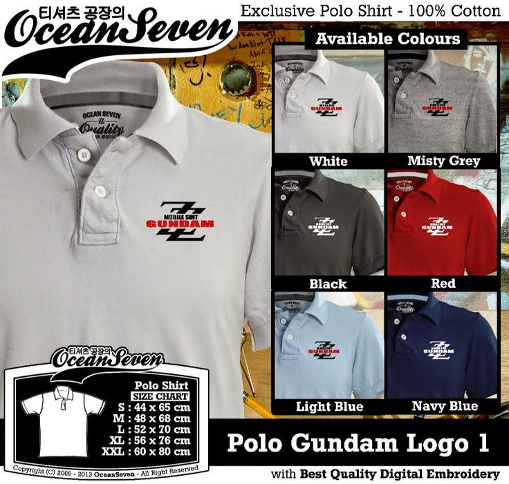 Kaos Polo Gundam Logo 1 | Kaos Polo - Exclusive Polo Shirt