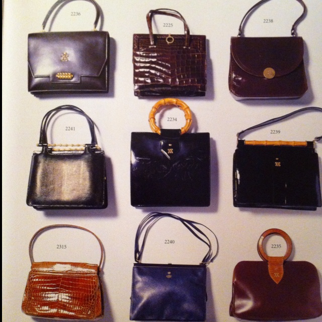 Just some of the Duchess of Windsor's handbags, each hand ...