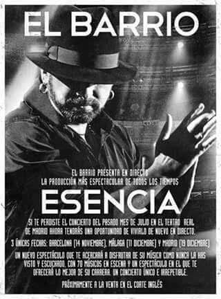Cantautor El Barrio concierto ESENCIA