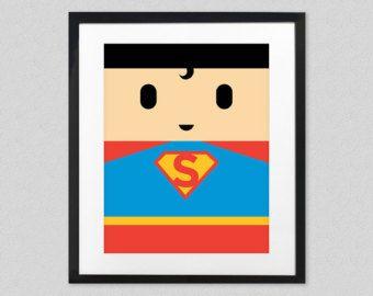 Cartel de película de Superman Vs Batman para niños sala - hombre del superhéroe de acero lámina de pared - Super héroe bebé vivero Decor - amanecer de la justicia