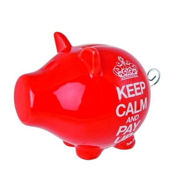 Spaarvarken Red Keep Calm  € 21,-