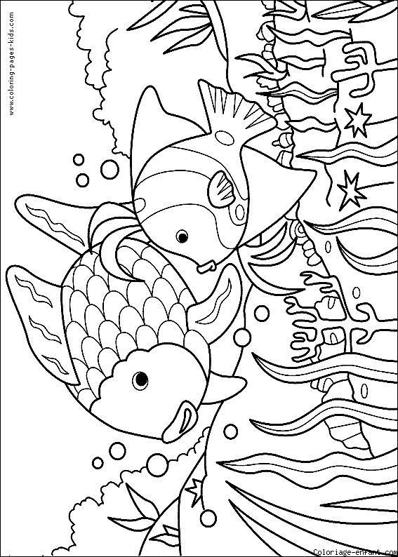 Fish Color Page Fish Coloring Page Rainbow Fish Coloring Page Coloring Books