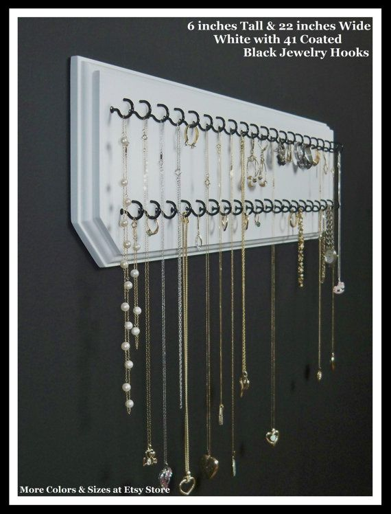 Jewelry organizer for necklaces, earrings, and rings