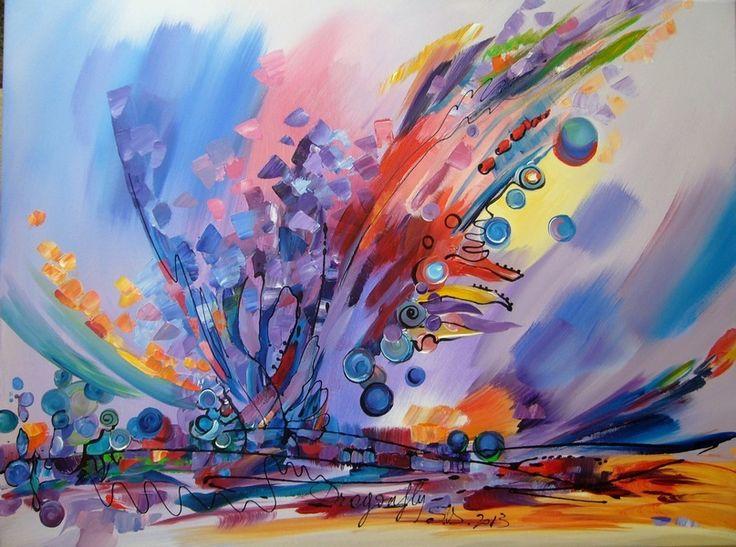 Dragonfly- acrylic on canvas, 60/80 cm, 2013, Derecichei Simona Mihaela