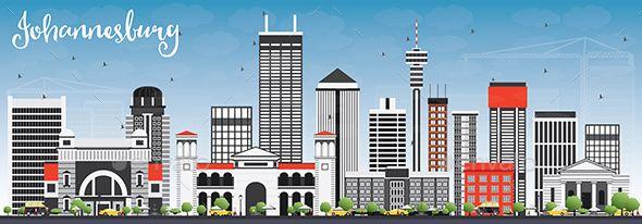 Johannesburg Skyline with Gray Buildings
