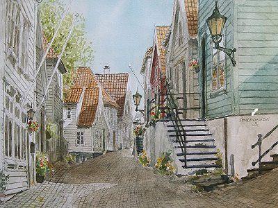 Ytre Markveien, Bergen by Roald Grimsø