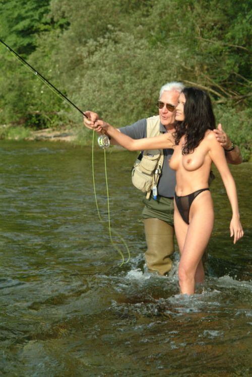Nude women bass fishing