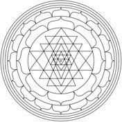 Mandala con Yantra Dibujo para colorear