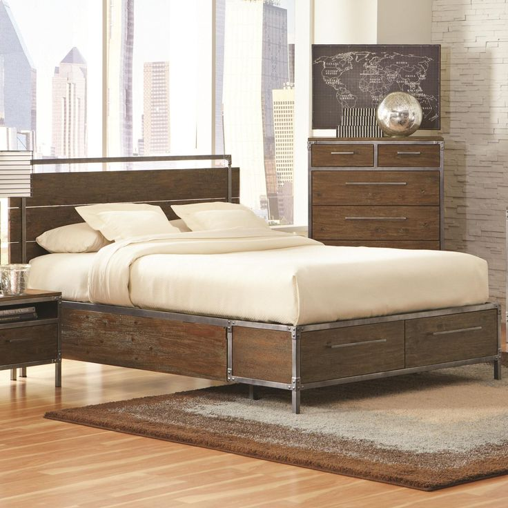 Best 25+ Industrial bed ideas on Pinterest | Industrial bed frame ...