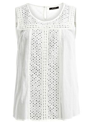 Feminine Sleeveless blouse with Lace #Vilaclothes #Vila #Lace