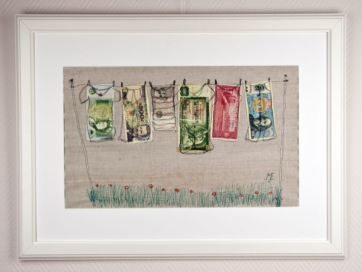 Buy Money Laundry, mixed media collage, Collage by Mariann Johansen-Ellis on Artfinder. Discover thousands of other original paintings, prints, sculptures and photography from independent artists.