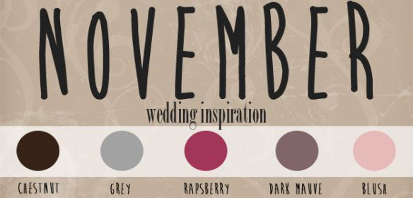 I think that these are my exactly colors.. now I just need to find bridesmaid dresses that match the dark mauve color or raspberry! (Thinking more red-ish than pink!)