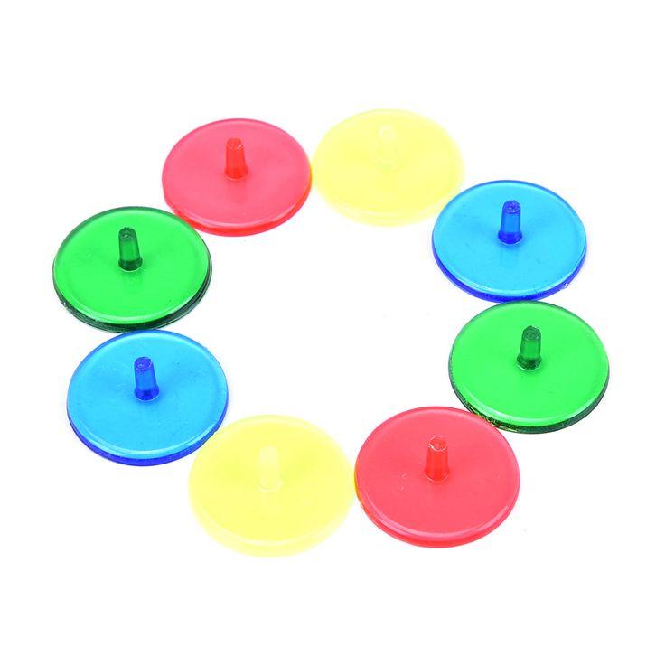 100 pcs de Plástico Transparente Bola de Golfe Marcadores de Posição Da marca Cores sortidas Acessórios Diâmetro 24mm Base de Fabricante De Bola De Golfe