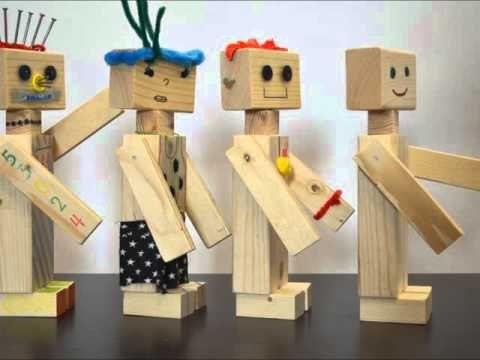 Bouwpakket houten robot (5 stuks) (Aantal Robotpakketten: 1x robotpakket,Extra enkele robots: 1 robot extra) | Kindermeubels | VAN STOER HOUT
