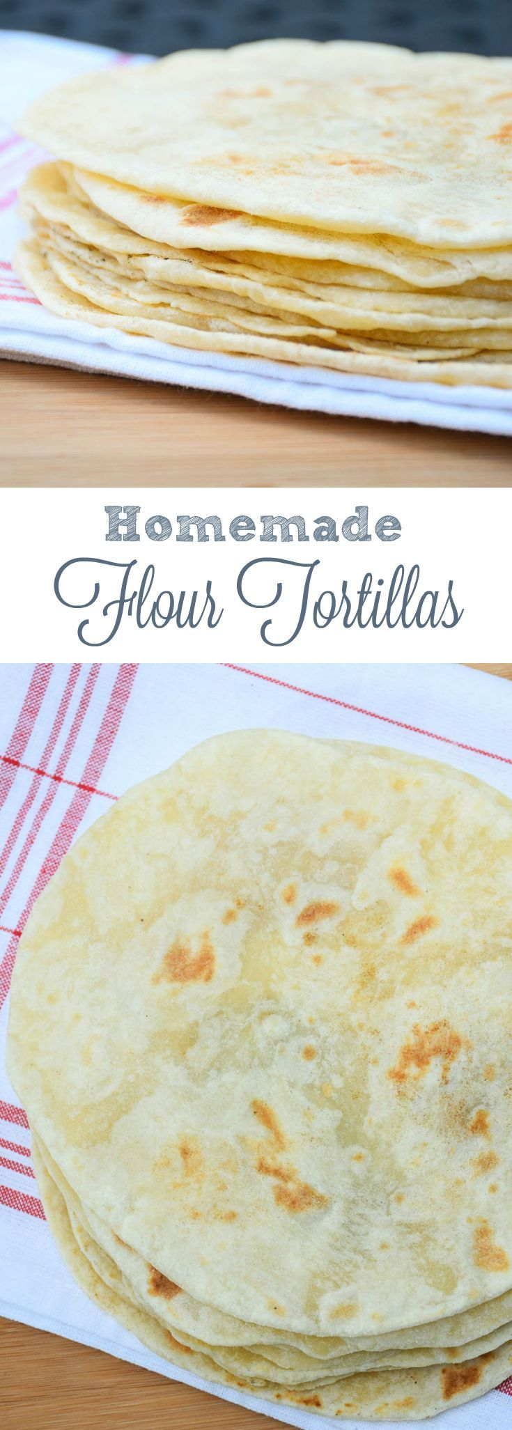 Homemade Flour Tortillas made with only 4 ingredients you likely already have in your pantry These are easy to make and taste far better than store-bought!
