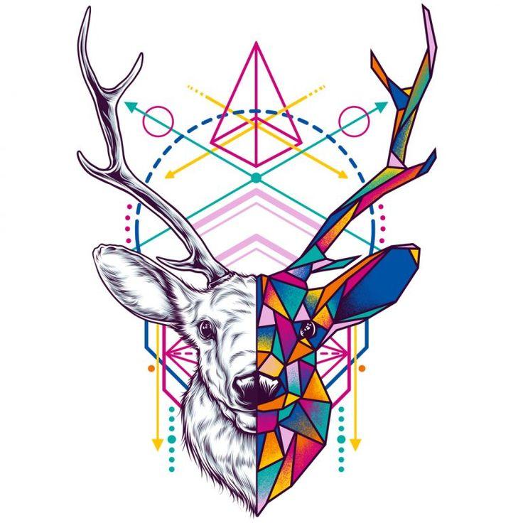 изготовления самодельной картинки с треугольником и животным что одной стороны