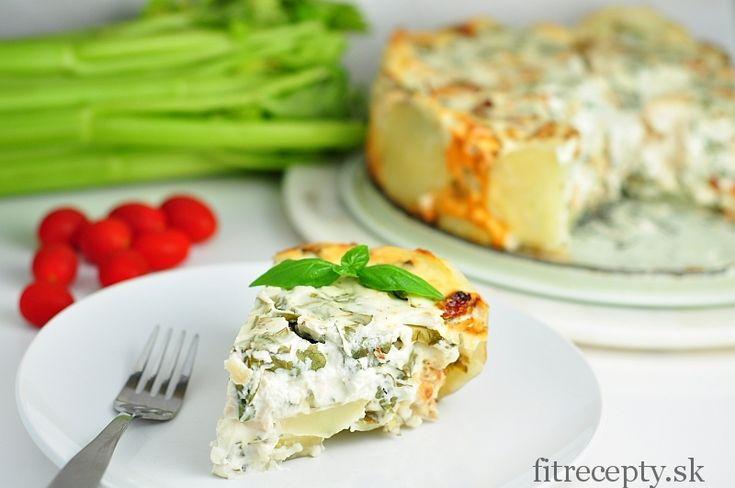 Zemiakovo syrový koláč s kuracím mäsom a špenátom - FitRecepty