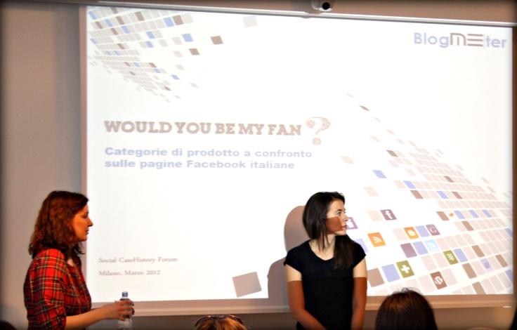 """Eugenia e Viviana presentano la nuova ricerca """"Would you be my fan? Categorie di prodotto sulle pagine Facebook italiane"""". Trovate la presentazione sul nostro canale Slideshare: http://www.slideshare.net/Blogmeter/would-you-be-my-fan-categorie-di-prodotto-sulle-pagine-facebook-italiane"""