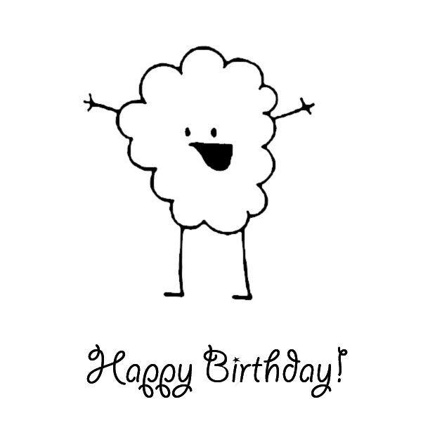 Черно-белое поздравление с днем рождения картинки