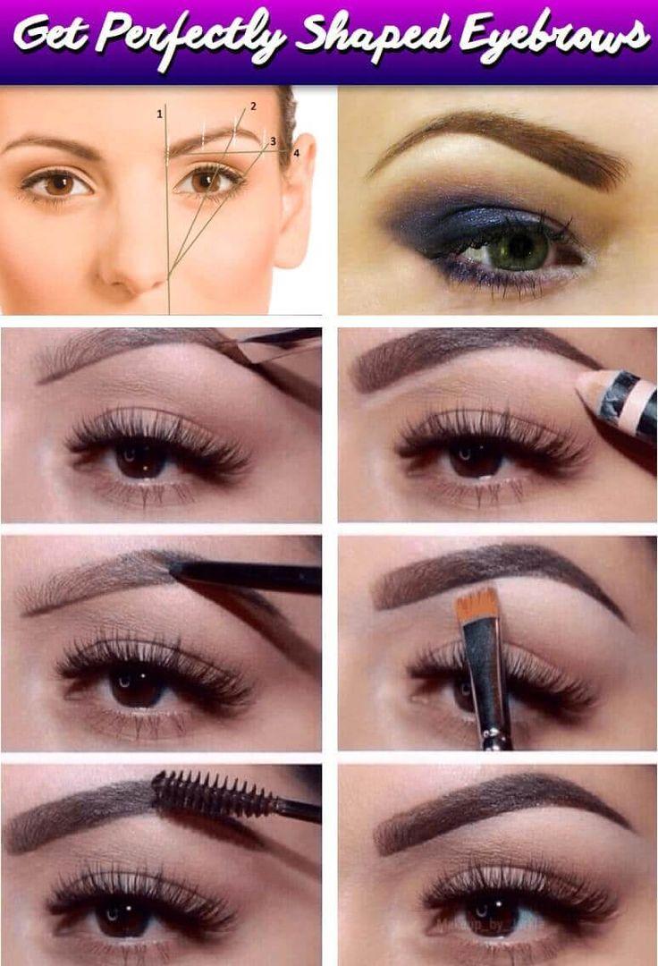 Mit wenigen Schritten perfekte Augenbrauen malen