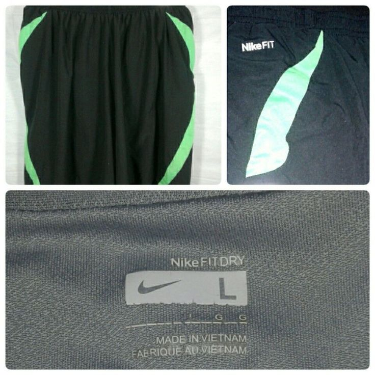 Women's Shorts Size Large Nike Dri Fit Athletic Lined Running black Neon Green    Clothing, Shoes & Accessories, Women's Clothing, Athletic Apparel   eBay!