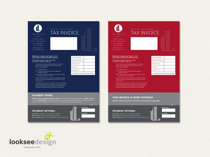 Custom Invoice Design - Designed by Looksee Design