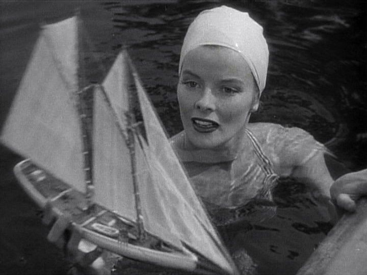 Katharine Hepburn in the pool. The Philadelphia Story, 1940.