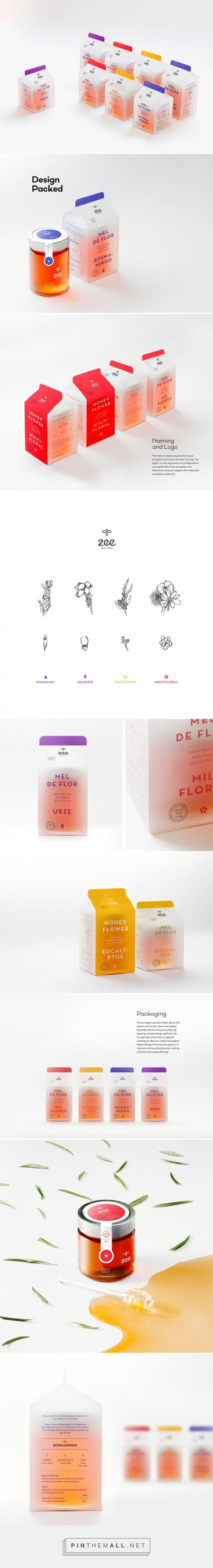 Zee Honey Goods packaging design by gen design studio (Portugal) - http://www.packagingoftheworld.com/2016/06/zee-honey-goods.html