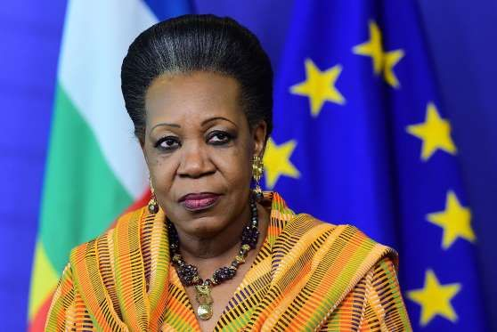 """Known as """"Mother Courage,"""" Central African Republic's (CAR) interim president from 2014 to 2016, Catherine Samba-Panza, was selected to lead the country in January 2014 to bring under control ethnic clashes that forced more than 1 million people from their homes. Being the first female president of CAR and a women's right activist, Panza worked toward steering her country away from violence."""