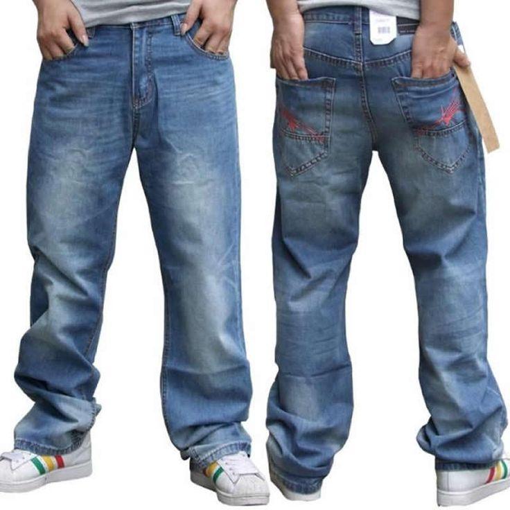 HOT! Plus Size For men Baggy Jeans Loose  Jeans Sport Trousers Hip-hop Printing Skateboard pants Men Jeans Size 30-42 - http://www.aliexpress.com/item/HOT-Plus-Size-For-men-Baggy-Jeans-Loose-Jeans-Sport-Trousers-Hip-hop-Printing-Skateboard-pants-Men-Jeans-Size-30-42/32242160755.html