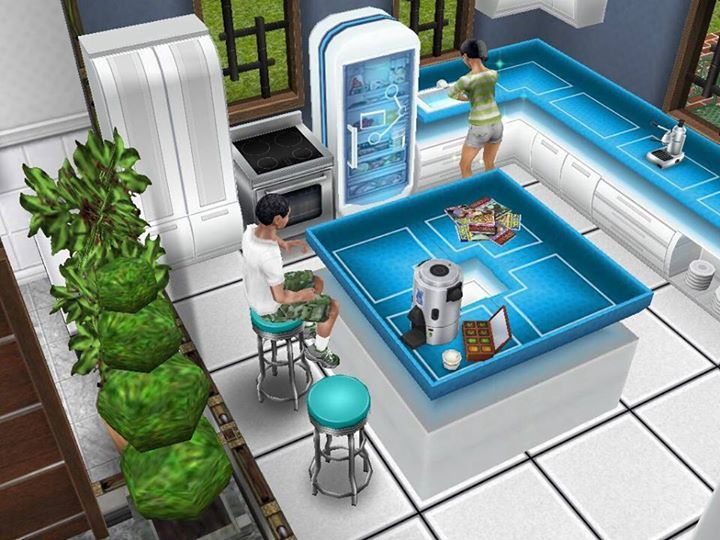 Sims Freeplay I Like The Space Countertops In A Square Island