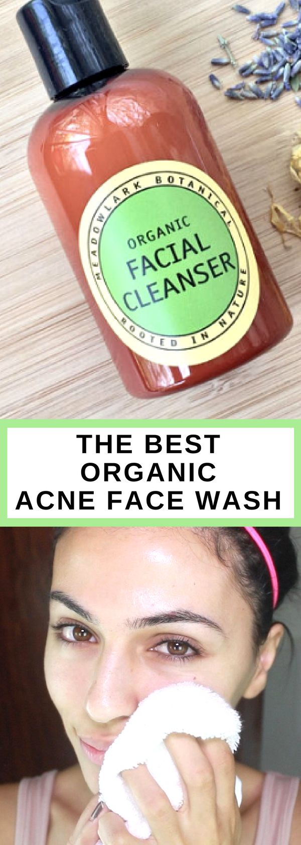 Organic Acne Facial Cleanser | Acne Face Wash | Non Drying Acne Cleanser for Oily Skin | Natural Acne Soap | Deep Cleansing Facial Wash - #afflink #acnecleanser