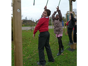 Adventure trails are great for helping to develop balance and coordination, as well as teamwork!