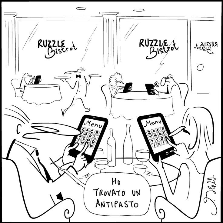 #Vignetta #JoshuaHeld #Ruzzle #comics #fun #humor #TelecomItalia