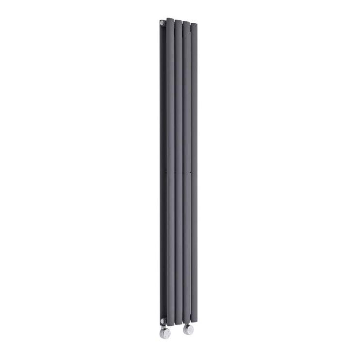 Radiateur électrique vertical Vitality compact anthracite 1600mm x 236mm - 1044 watts - Image 2