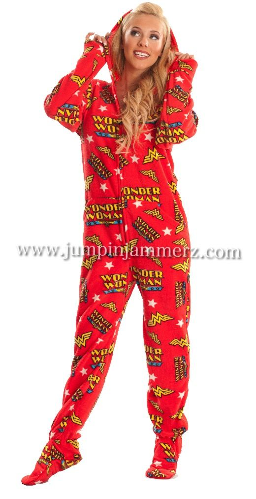 Orange fleece footed pajamas