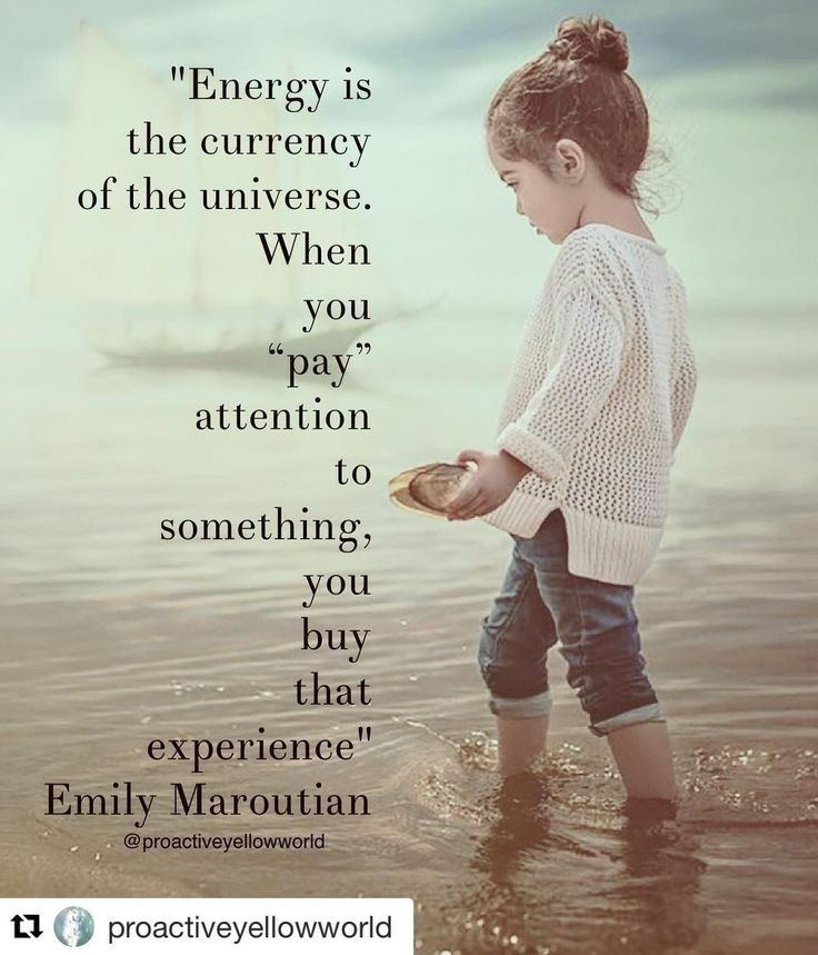 Energy is the currency of the universe...