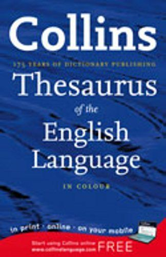 Collins Essential Thesaurus . $8.33. Publisher: HarperCollinsChildren'sBooks (September 19, 2007). 799 pages