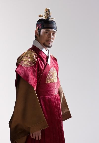 from Dong-yi drama-  Ji Jin-hee as the King Sejeong  He looks way better in historic era rather than modern one.