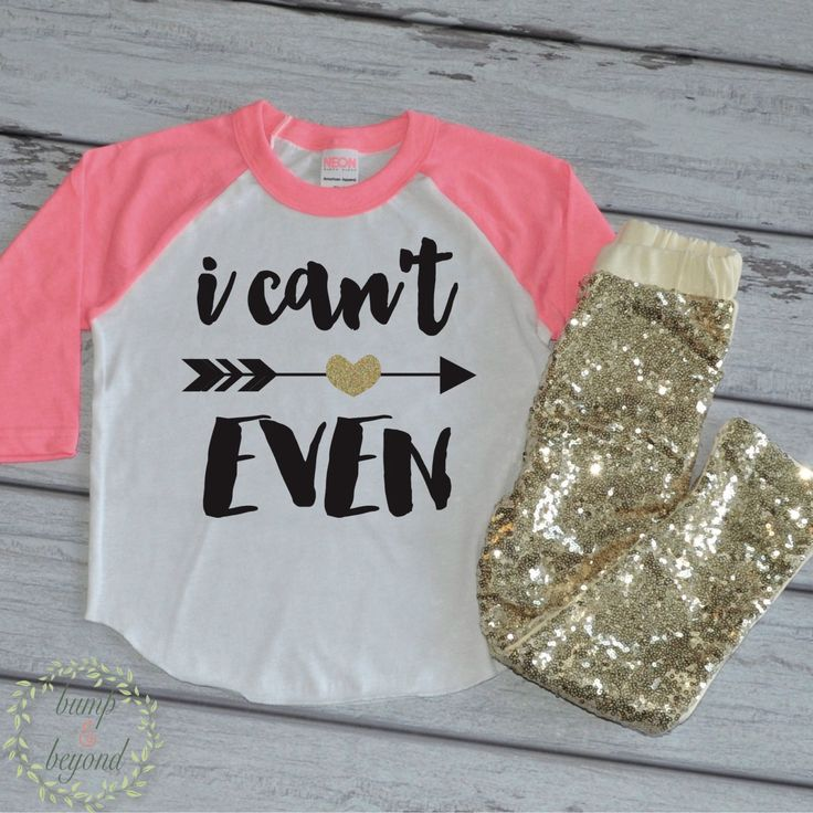 I Can't Even Shirt and Sequin Pants Toddler Girl Outfit Girl Clothes Toddler…