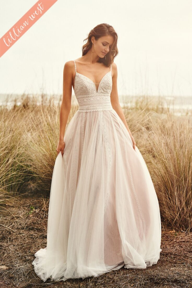 Style 20   English Net A Line Dress with Lace Straps   Wedding ...
