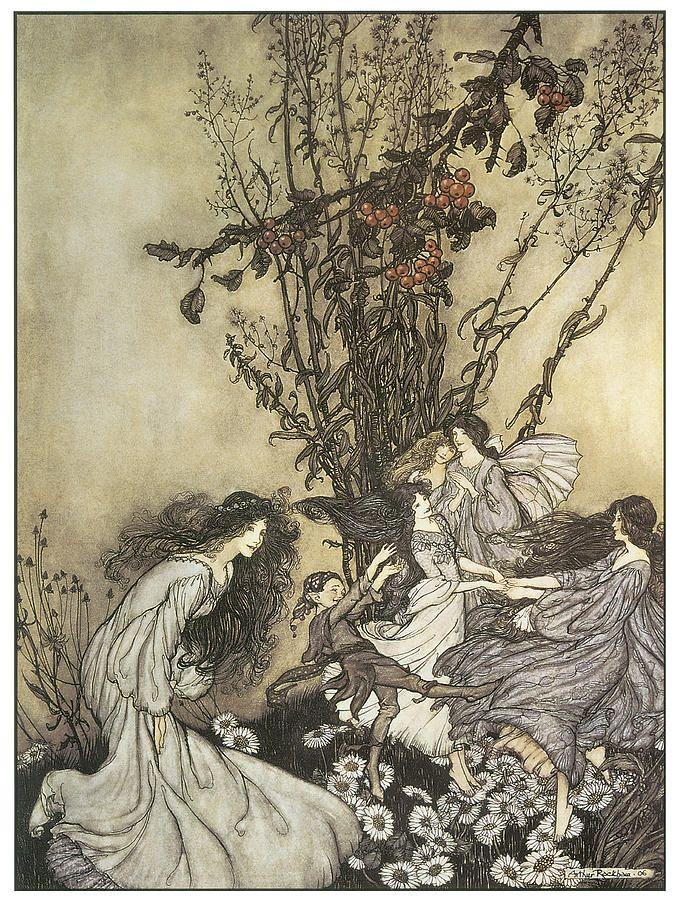 The Fairies in Kensignton Gardens by Arthur Rackham