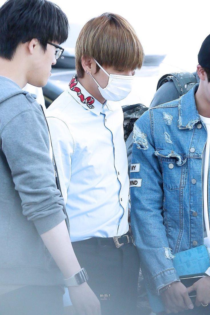 ~[28/04/17] Leaving Incheon Airport~ ©hello!VK #V #KimTaehyung #TaeTae #BTS #LeavingIncheonAirport