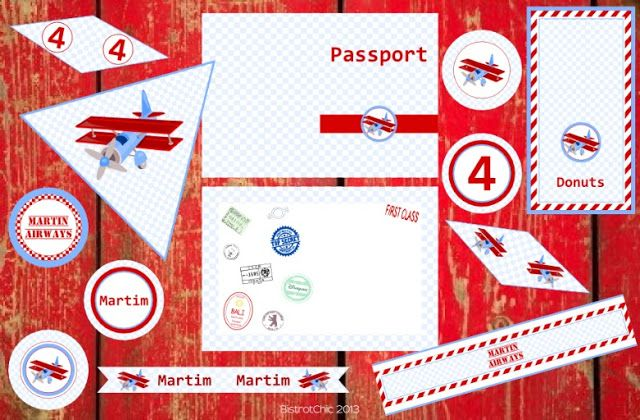 Martin Airways Personalized Party Printables by BistrotChic ®