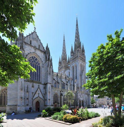 Quimper : la cathédrale St Corentin