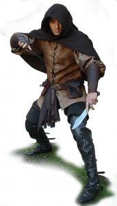 Costume da Ladro, Medioevo - Abbigliamento medievale - Costumi Fantasy Medievali - Abito da Ladro molto comodo, con caratteristiche di agiatezza dei movimenti.
