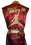 Roy Jones Jr Signed Burgundy Jordan Logo Robe  Autographed Boxing Robes and Trunks