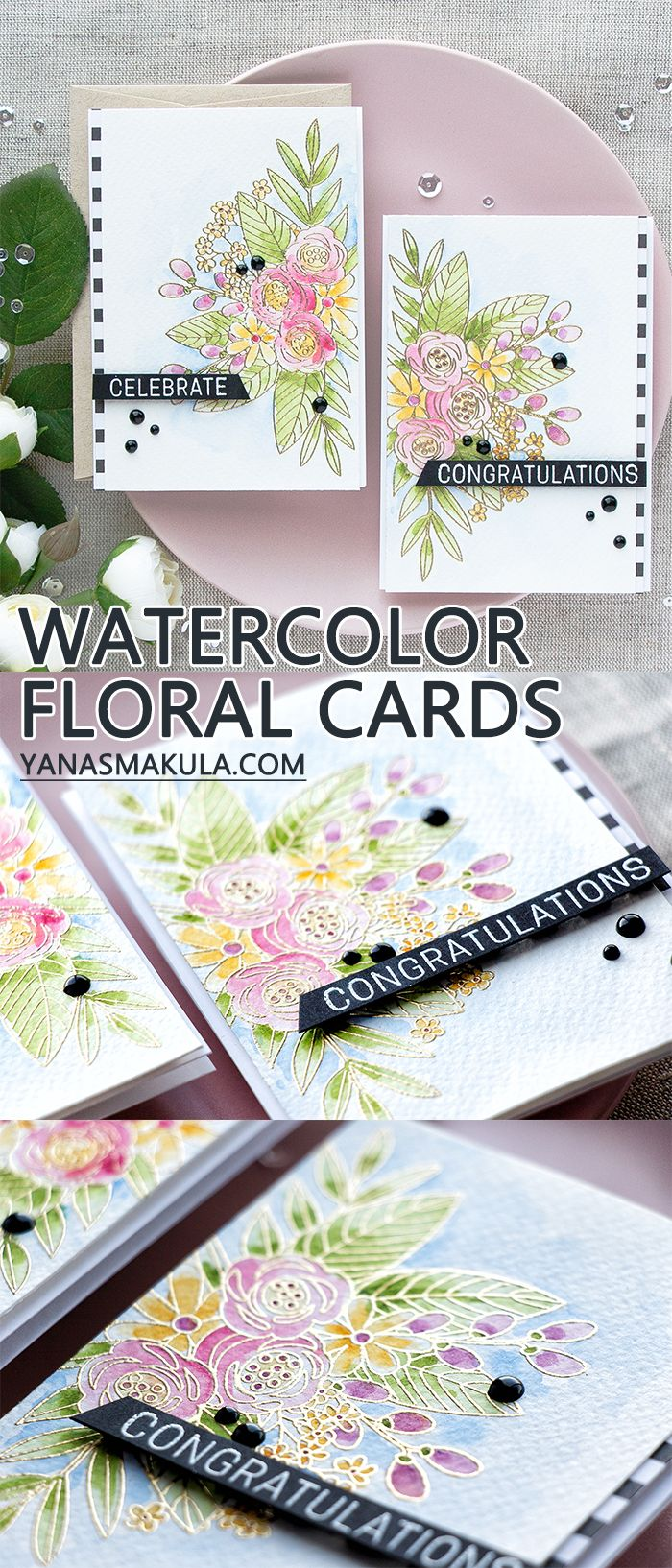 Simon Says Stamp | June 2017 Card Kit - Floral Watercolor Cards