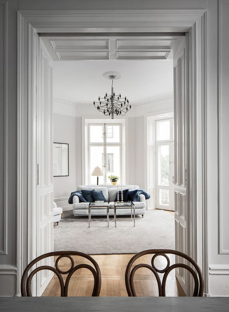 stockholm apartment in greys and white | alexander white 6